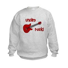 Uncles Rock! Red Guitar Sweatshirt