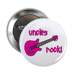 "Uncles Rock! Pink Guitar 2.25"" Button"