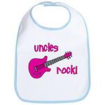 Uncles Rock! Pink Guitar Bib