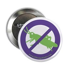 """No Grasshoppers 2.25"""" Button (10 pack)"""