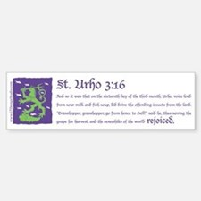 St. Urho 3:16 Bumper Bumper Sticker