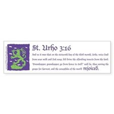 St. Urho 3:16 Bumper Sticker