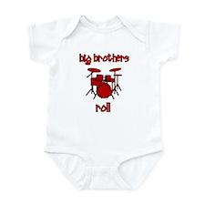 Big Brothers Roll! DRUMS Infant Bodysuit