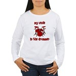 My Uncle is the Drummer Women's Long Sleeve T-Shir