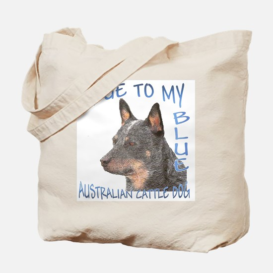 True To My Blue Tote Bag