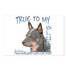 True To My Blue Postcards (Package of 8)