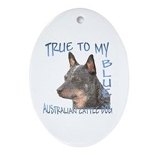 True To My Blue Ornament (Oval)