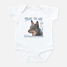True To My Blue Infant Bodysuit