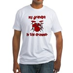 My Grandpa is the Drummer Fitted T-Shirt