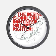 Design Error Wall Clock