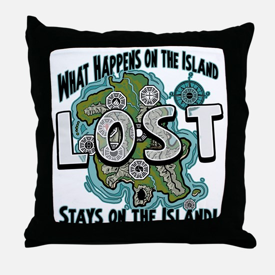 What happens on Lost Island Throw Pillow