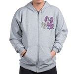 Lilly - You're pretty! Zip Hoodie