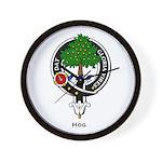 Hog Clan Crest Badge Wall Clock