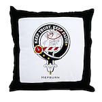 Hepburn Clan Crest Badge Throw Pillow
