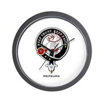 Hepburn Clan Crest Badge Wall Clock