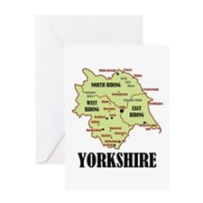 Yorkshire Map Greeting Card