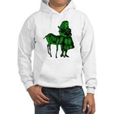 Alice with Fawn Green Fill Hoodie