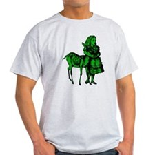 Alice with Fawn Green Fill T-Shirt
