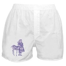 Alice with Fawn Lavender Boxer Shorts