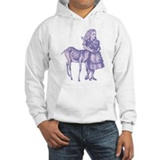 Alice with Fawn Lavender Hoodie