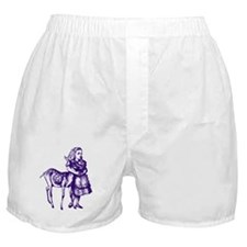 Alice with Fawn Purple Boxer Shorts