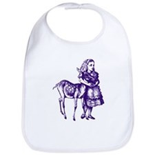 Alice with Fawn Purple Bib