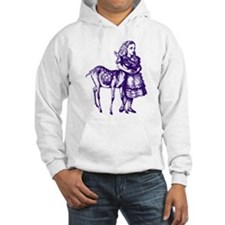 Alice with Fawn Purple Hoodie Sweatshirt