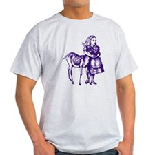 Alice with Fawn Purple T-Shirt