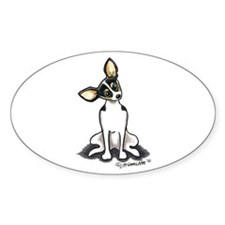 Rat Terrier Sit Pretty Decal