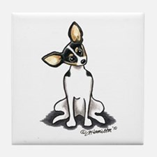 Rat Terrier Sit Pretty Tile Coaster