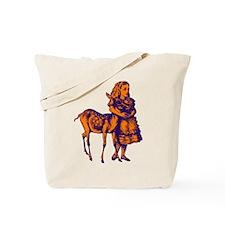 Alice with Fawn Purple Orange Tote Bag
