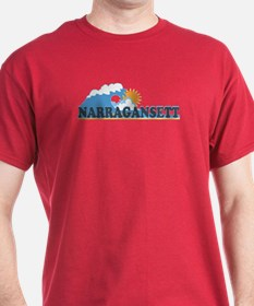 Narragansett RI - Waves Design T-Shirt