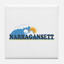 Narragansett RI - Waves Design Tile Coaster