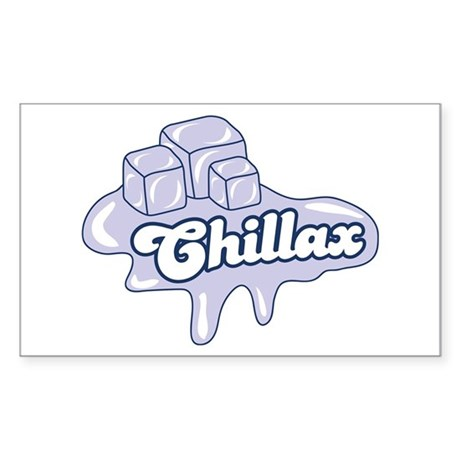 Chillax Rectangle Sticker