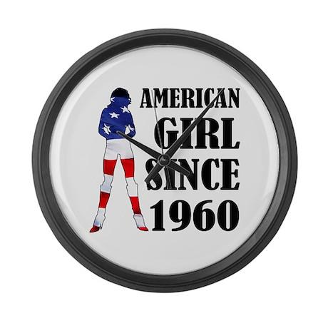 American Girl Since 1960 Large Wall Clock