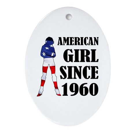 American Girl Since 1960 Ornament (Oval)