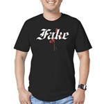 Fake Men's Fitted T-Shirt (dark)