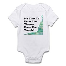Drive The Thieves From The Temple Infant Bodysuit