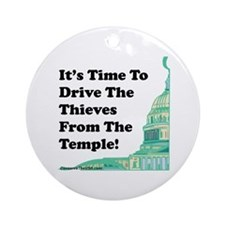 Drive The Thieves From The Temple Ornament (Round)