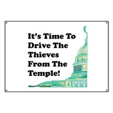 Drive The Thieves From The Temple Banner