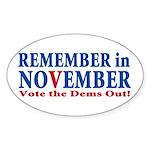 Vote Republican 2010 Sticker (Oval 50 pk)