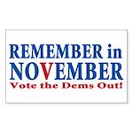 Vote Republican 2010 Sticker (Rectangle 50 pk)