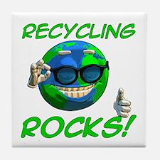 Recycling Rocks! Tile Coaster