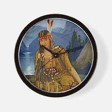 Indian Maiden Wall Clock