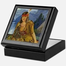 Indian Maiden Keepsake Box
