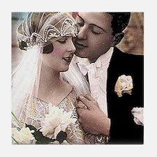 WEDDING COUPLE Tile Coaster
