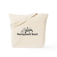 Narragansett RI - Lighthouse Design Tote Bag