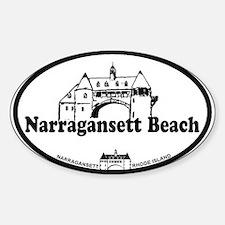 Narragansett RI - Lighthouse Design Sticker (Oval)