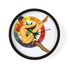 Astrology Pin Up Girl Wall Clock
