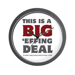 Joe Biden's Big Effing Deal Wall Clock